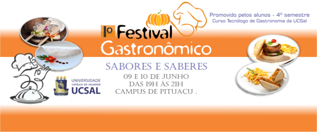 Banner festival gastronomia display
